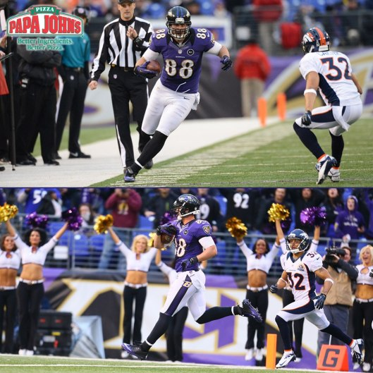 DENNIS PITTA - Touch Down - Highlights Ravens vs. Broncos December 16, 2012