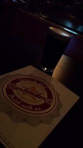 Bartneders - menu and love stout