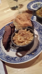 Biscuit, Brisket and Macaroni and Cheese