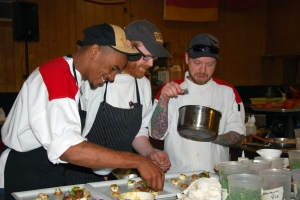 "2012 Winner Chef ""Opie""  Crooks and his team"